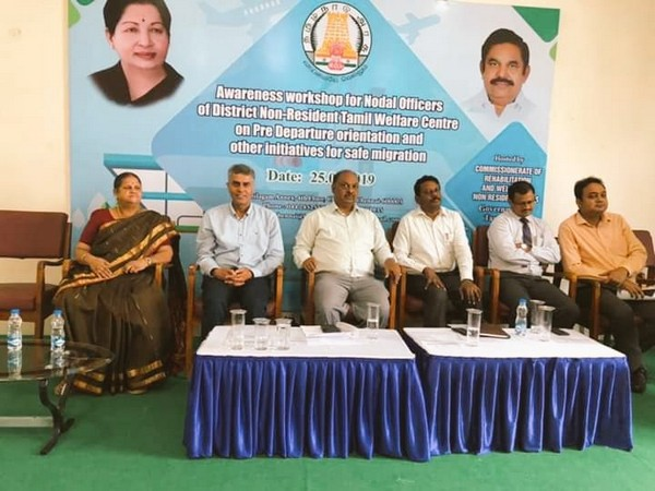 Awareness Workshop for Nodal Officers of District Non-Resident Tamils Centre  on safe, orderly and regular migration  organised today at Chennai (Picture tweeted by Overseas Indian Affairs)