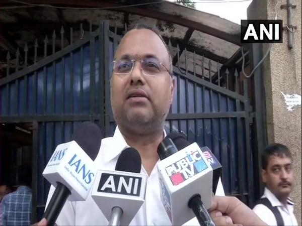 Karti Chidambaram speaking to media outside Tihar jail in New Delhi on Thursday. Photo/ANI