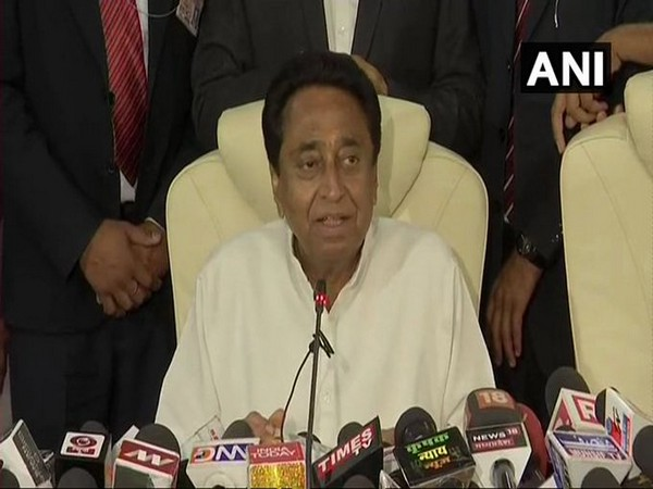 Madhya Pradesh Chief Minister Kamal Nath while addressing the media on Thursday. Photo/ANI