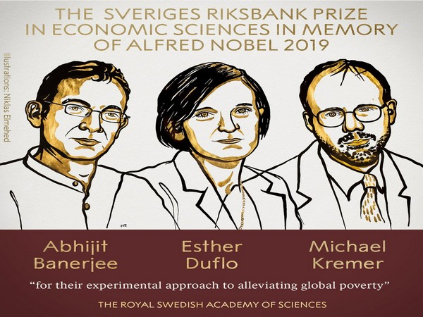 Indian-born economist Prof Abhijit Banerjee, his French-American wife Esther Duflo and US' Michael Kremer awarded 2019 Nobel Prize in Economics.