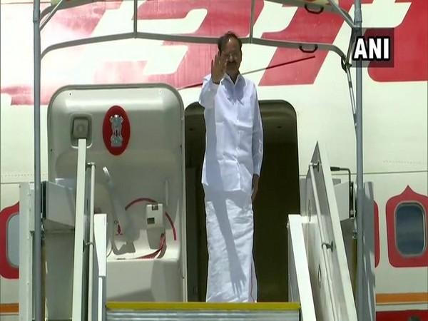 Vice President M Venkaiah Naidu departed for New Delhi from Sierra Leone. Photo/ANI