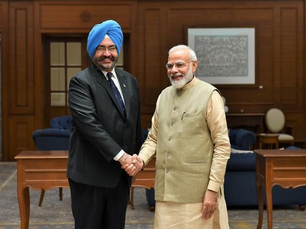 Prime Minister Narendra Modi on Friday met former IAF Chief BS Dhanoa.