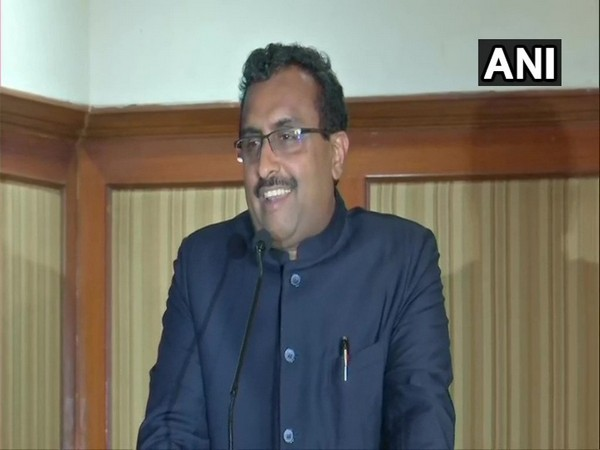 BJP National General Secretary Ram Madhav addressing a gathering at the National Unity Campaign on Friday. Photo/ANI