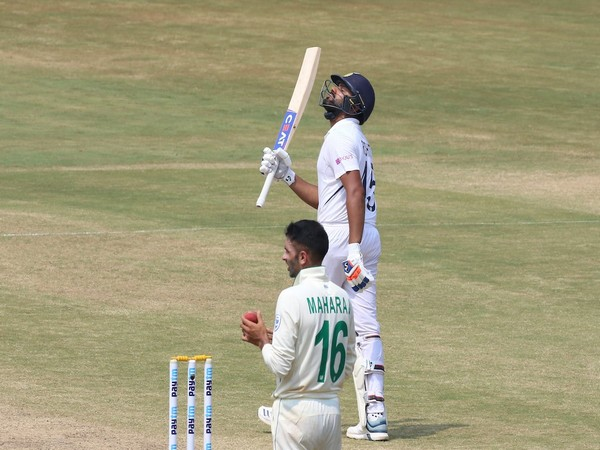 Rohit Sharma after scoring century against South Africa (Photo/ BCCI Twitter)