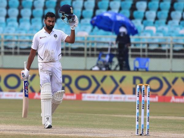 India opening batsman Rohit Sharma celebrates after scoring century (Photo/ BCCI Twitter)