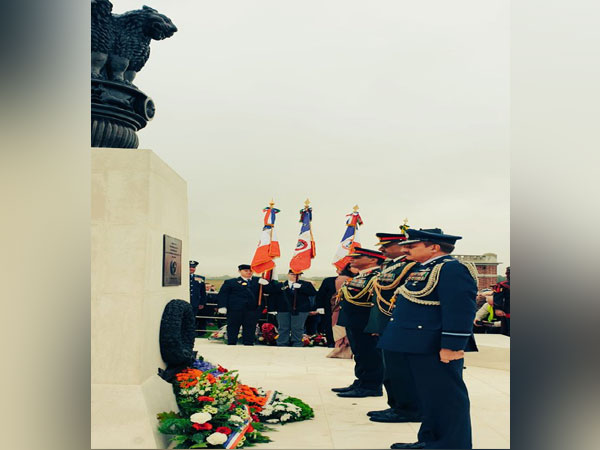 Indian and French soldiers at Villers Guislain Indian War memorial in Paris (Picture Credits: India in France/Twitter)