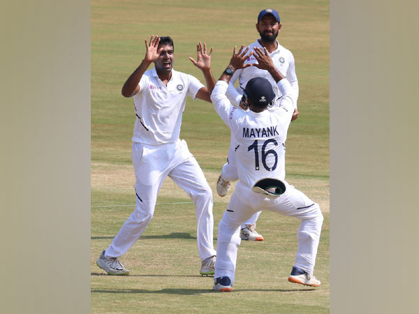 Ravichandran Ashwin celebrates after dismissing Theunis de Bruyn (Photo/ BCCI Twitter)