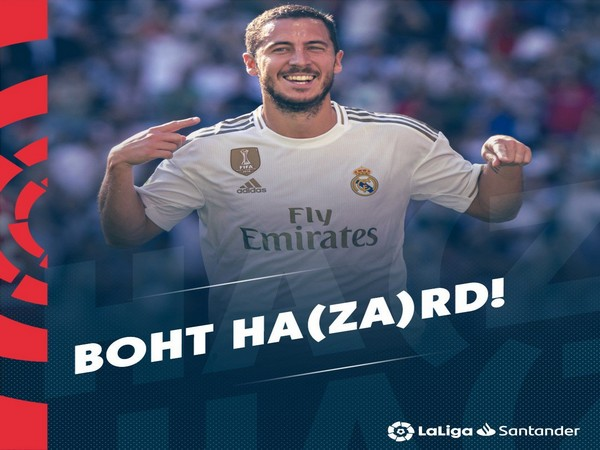 Real Madrid's striker Eden Hazard (La Liga Twitter)