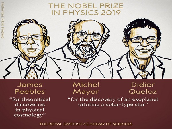 The Nobel Prize in Physics was awarded to James Peebles and jointly to Michel Mayor and Didier Queloz. (Phot courtesy: Noble Prize Twitter handle)
