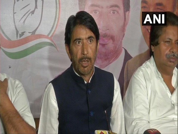 Ghulam Ahmad Mir, Congress addressing a press conference in Jammu on Wednesday. Photo/ANI