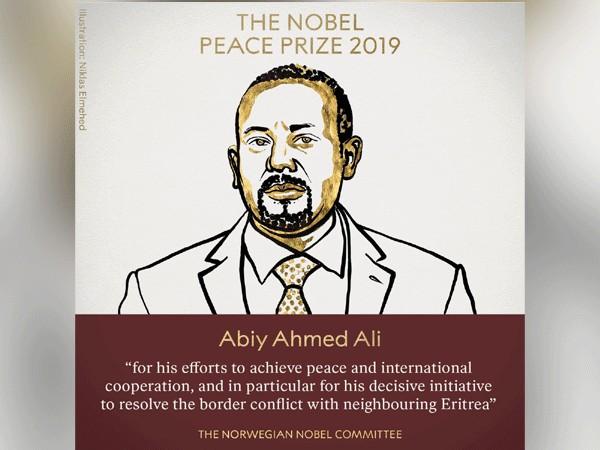 Ethiopian Prime Minister Abiy Ahmed Ali, winner of 2019 Nobel Peace Prize (Photo/The Nobel Prize's Twitter)