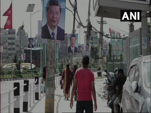 Posters welcoming Chinese President Xi Jinping seen in Kathmandu before his visit to the city. Photo/ANI