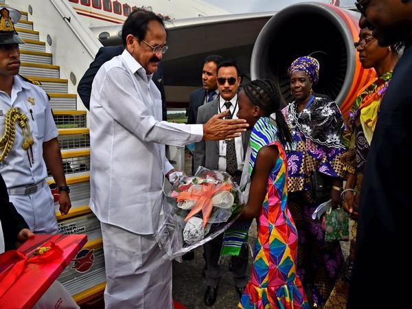 Vice President Naidu arrives in Sierra Leone