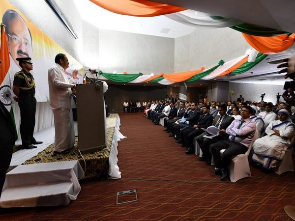 M Venkaiah Naidu interacted with the thriving Indian community in Sierra Leone.