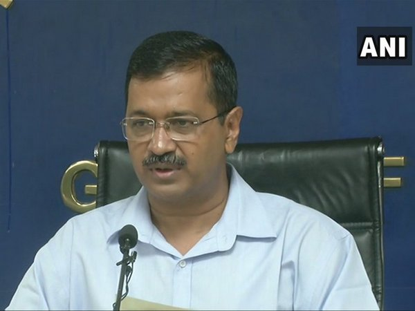 Delhi Chief Minister Arvind Kejriwal addressing a press conference in Delhi on Thursday. Photo/ANI