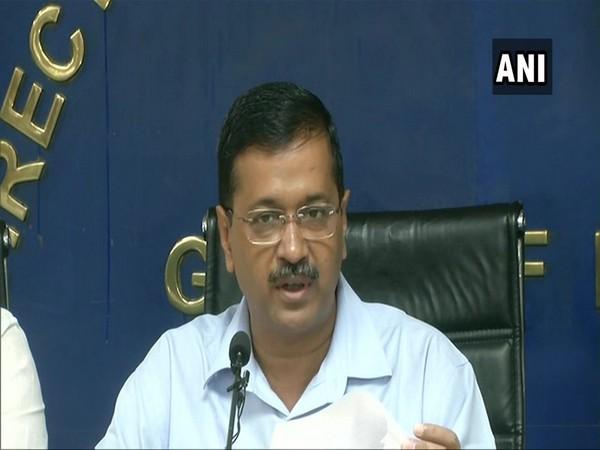 Delhi Chief Minister Arvind Kejriwal addressing the media persons in Delhi on Thursday. Photo/ANI