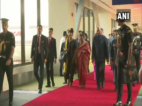 President Ram Nath Kovind and his wife Savita Kovind