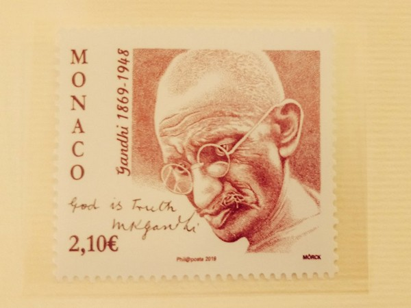 Postage stamp released by Government of the Principality of Monaco (Source: Twitter account of Indian Embassy in France)