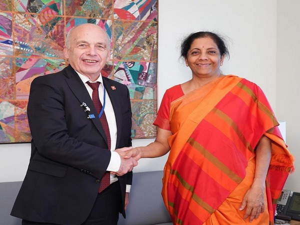 Finance Minister Nirmala Sitharaman met Swiss President Ueli Maurer (Picture tweeted by Embassy of India to Switzerland)