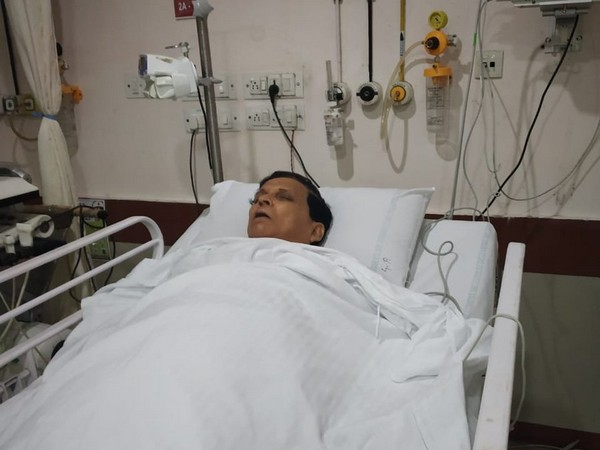 Ex-PWD Minister Badal Chowdhury admitted to a hospital in Agartala. Photo/ANI