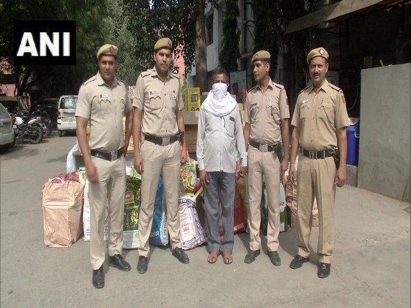 Delhi: One man was arrested yesterday in possession of around 700 kg illegal firecrackers. Photo/ANI