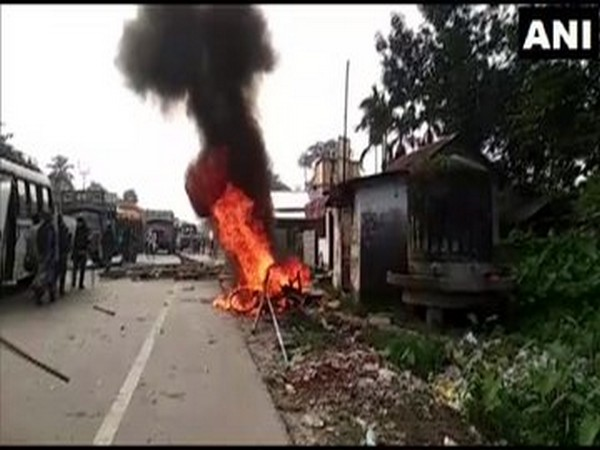 Visual from the clashes which broke out in Coochbehar on Wednesday. Photo/ANI