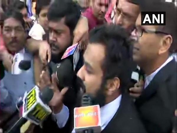 Vishnu Shankar Jain, counsel for Hindu Mahasabha Lawyer speaking to media persons in New Delhi on Saturday. (File photo)