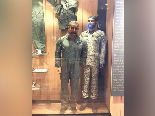 Indian Air Force (IAF) Wing Commander Abhinandan Varthaman's mannequin at Pakistan Air Force museum (Picture Credits: Anwar Lodhi/Twitter)