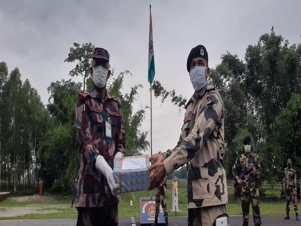 A visual from Fulbari outpost on Indo-Bangladesh border near Siliguri on Monday. [Photo/ANI]