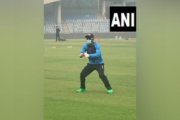 Bangladesh's Liton Das during a training session at Arun Jaitley Stadium