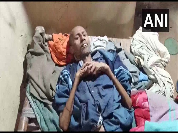 Tuberculosis (TB) patient Balram falls sick after allegedly starving for over six days in Kaushambi. Photo/ANI