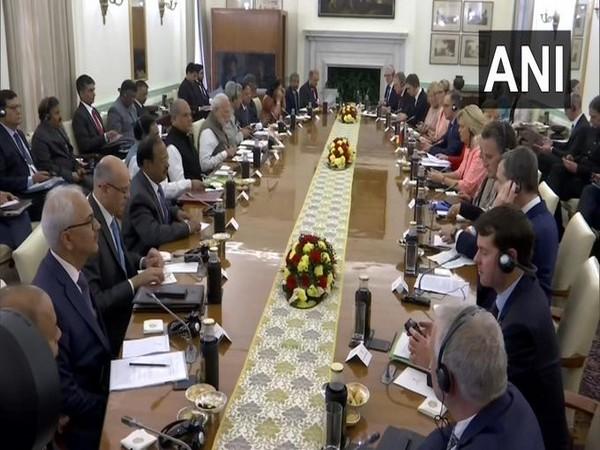India German delegation level talks underway