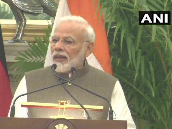 Prime Minister Narendra Modi speaking in New Delhi on Friday. Photo/ANI