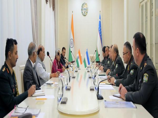 Defence Minister Rajnath Singh held bilateral consultations with Defence Minister of Uzbekistan Major General Bakhodir Nizamovich Kurbanov (Photo credit: Defence Ministry)