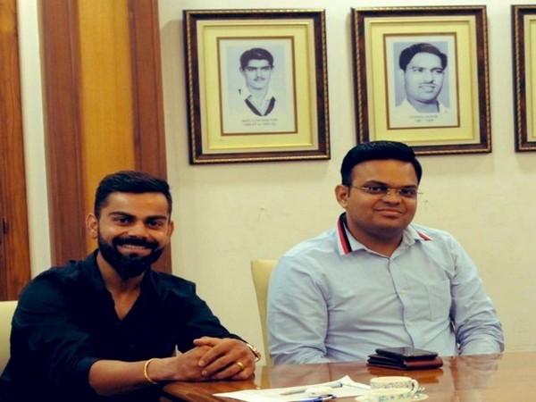 BCCI Secretary Jay Shah (right) with India skipper Virat Kohli (Photo: Jay Shah twitter)