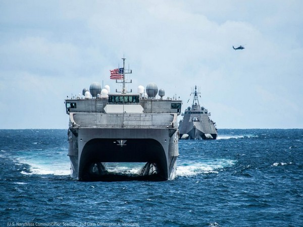 An image of US naval ship. Photo/Twitter