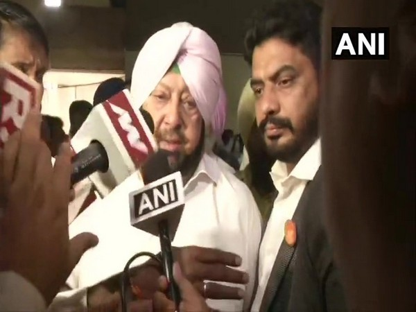 Punjab Chief Minister Captain Amarinder Singh speaking to reporters in Chandigarh on Wednesday.
