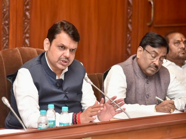 Maharashtra Chief Minister Devendra Fadnavis chairs a meeting to take stock of unseasonal rain affected areas. (Picture courtesy: CMO Maharashtra)