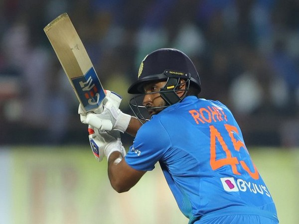 India's stand-in skipper Rohit Sharma in action against Bangladesh (Photo/ BCCI Twitter)