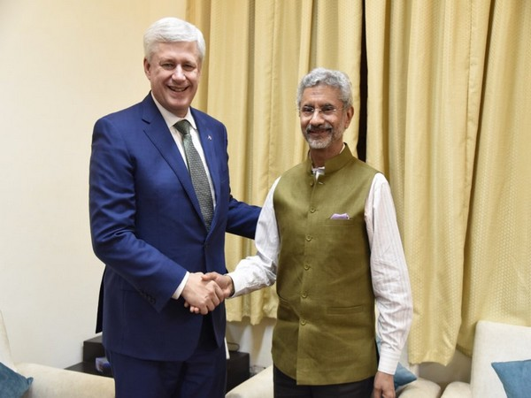 S Jaishankar met former Prime Minister of Canada Stephen Harper (Picture tweeted by S Jaishankar)