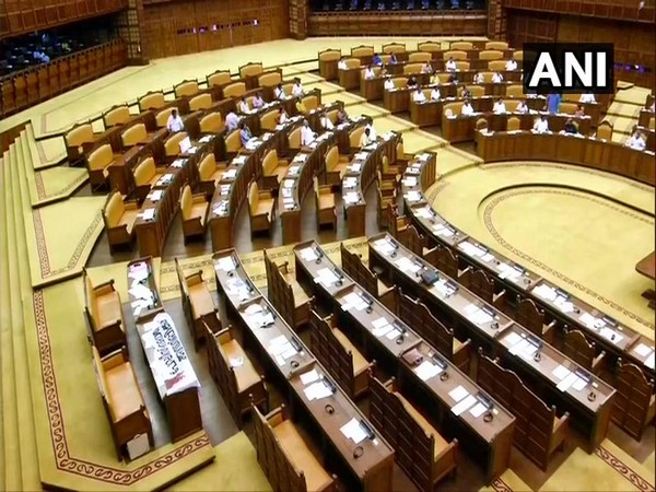 Kerala: Opposition party MLAs boycott the question hour at the state assembly [Photo/ANI]