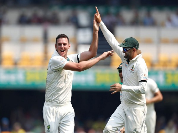 Josh Hazelwood celebrates after taking a wicket against Pakistan (Photo/ cricket.com.au Twitter)