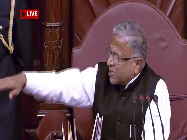 Rajya Sabha Deputy Chairman Harivansh Narayan Singh in the Rajya Sabha on Thursday. Photo/RSTV