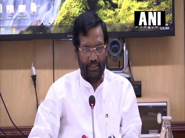 Union Minister Ram Vilas Paswan while speaking to the reporters on Thursday (Photo/ANI)