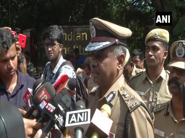 Chennai Police Commissioner AK Viswanathan speaking to media persons on Thursday. (Photo/ANI)