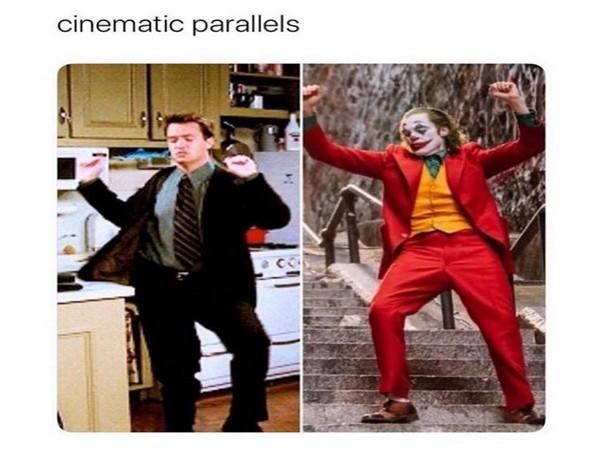 Chandler from FRIENDS and Joker (Photo/Matthew Perry Twitter)