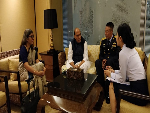 Defence Minister Rajnath Singh on Saturday arrived in Bangkok to attend the ASEAN Defence Ministers Meeting Plus