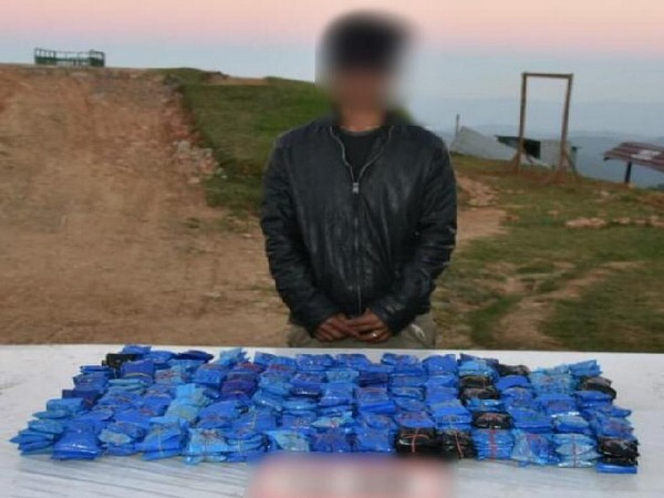 The apprehended man, along with the recovered materials, have been handed over to the police
