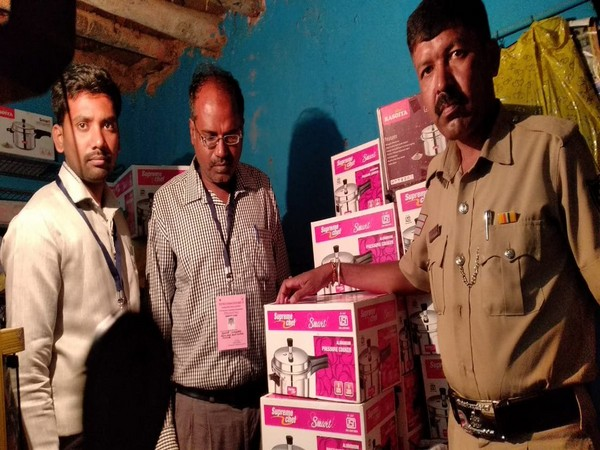 EC seizes 53 pressure cookers from a house in poll-bound Hoskote. Photo/ANI