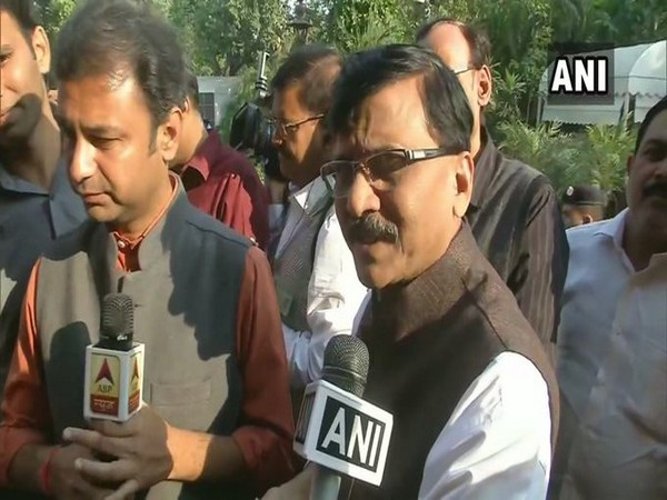 Shiv Sena leader Sanjay Raut in New Delhi on Tuesday. Photo/ANI